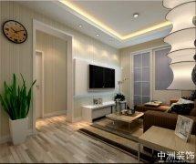 80平米现代简约风格两房两厅装修效果图