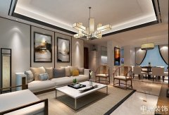 现代中式混搭120平三室两厅装修案例