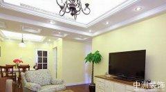 美式装修实景图之三室两厅样板间