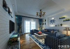 简约地中海装修两室两厅装修案例