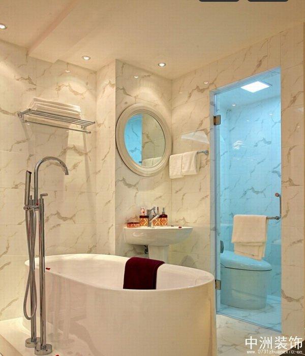 英伦风格装修洗手间效果图