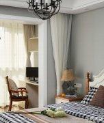 三室两厅现代美式风格效果图