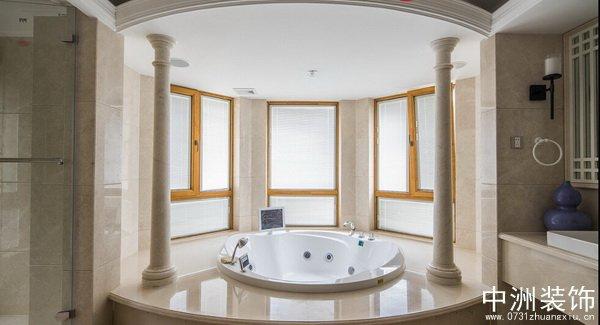 欧式古典别墅装修浴室实景